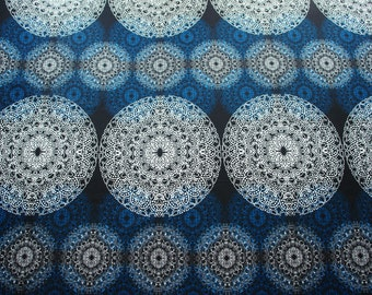 Scandinavian fabric, upholstery fabric, curtain fabric, Swedish fabric, canvas fabric, Kangastus Astrid blue
