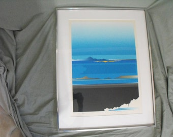 Tetsuro Sawada Japanese Signed Limited Edition Skyscape Serigraph Print