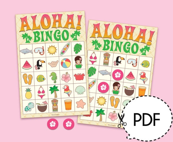 Sweet image in printable luau party games