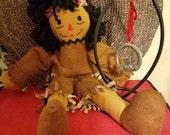 Raggedy Andy 15 Inch Doll Native American