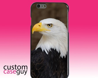 Hard Snap-On Case for Apple 5 5S SE 6 6S 7 Plus - CUSTOM Monogram - Any Colors - American Bald Eagle