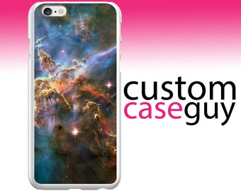 Spigen Thin Fit Exact Fit for Apple iPhone 6 / 6S / 7 / PLUS / Galaxy S6 - CUSTOM Monogram - Any Colors - Blue Pink Orange Carina Nebula