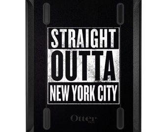 Custom OtterBox Defender for Apple iPad 2 3 4 / Air 1 2 / Mini 1 2 3 4 - CUSTOM Monogram - Straight Outta New York City