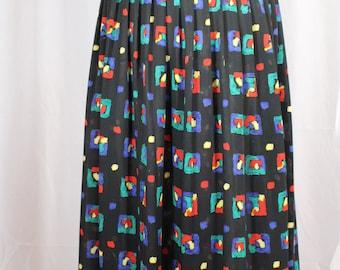 80s sheer multi-color skirt