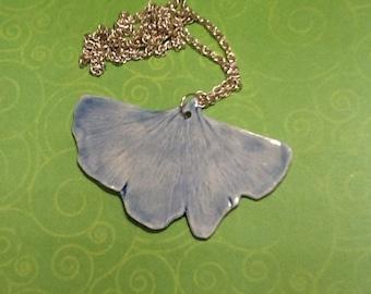 Gingko leaf necklace