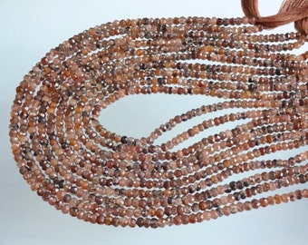 14-inch Natural Andalusite micro faceted rondelle beads size 4mm GW1870