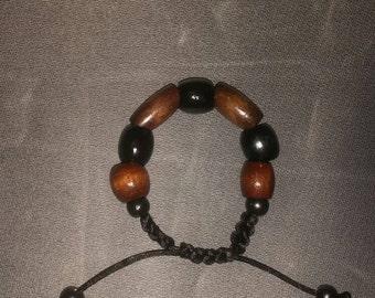 Wood bead bracelet handmade