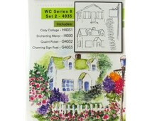 Art Impressions Stamps - Water Colour Series 8 - Set 2 4035, stamping, Cardmaking, Painting, Colouring, Watercolour