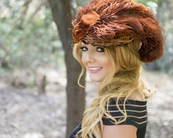 Antique Victorian Hat VERY RARE-true Beauty
