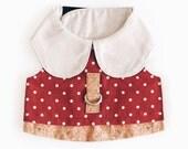 Oh! Apparel Harness / Orange Polka Dot Cotton with Corkboard