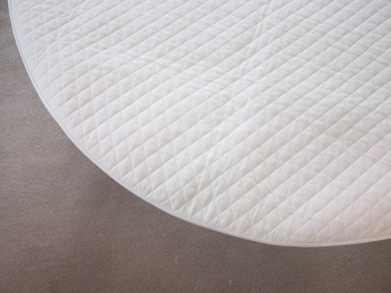 Round Crib Mattress Topper Cover Padded for 42 Mattress