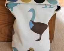 Door Stop, Fabric door stop, handmade door stopper, chicken, duck, duck egg blue
