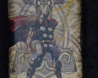 Stainless Steel Comic Book Flask - 8 oz ( Thor or Dr. Strange)