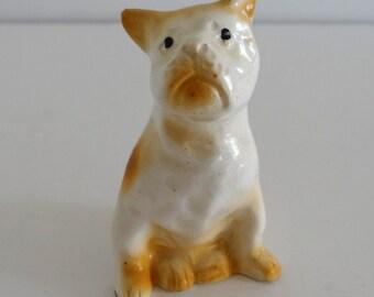 Dog Figurine Boxer Vintage Japan
