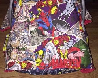 Marvel car seat canopy