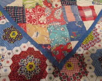 "Reduced Price!  Nice!   Bars and Diamonds Country Quilt.   From Missouri.  89"" x 75"".    Homemade!"