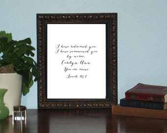 Any Scripture print on cardstock and mailed