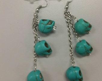 Tri- Skulls Earrings