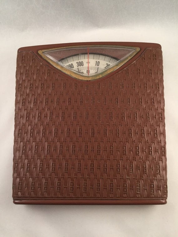 Retro Faux Wicker Bathroom Scales Sears By Thefreckledberry