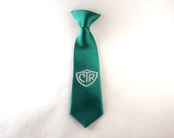Choose the Right tie, CTR tie, clip on tie, ctr gift, baptism tie, LDS tie, child tie, youth tie, toddler tie, Mormon kids, baptism gift
