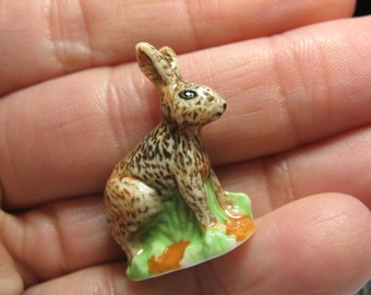 HARE Rabbit Bunny, Hunting in the Woods Series  - French Feve Feves Figurines Miniatures V140