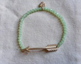 Gold Arrow Sagittarius Stretch bracelet