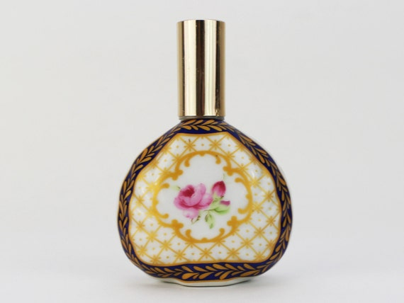 Vintage 1950s Hand Painted Perfume Bottle