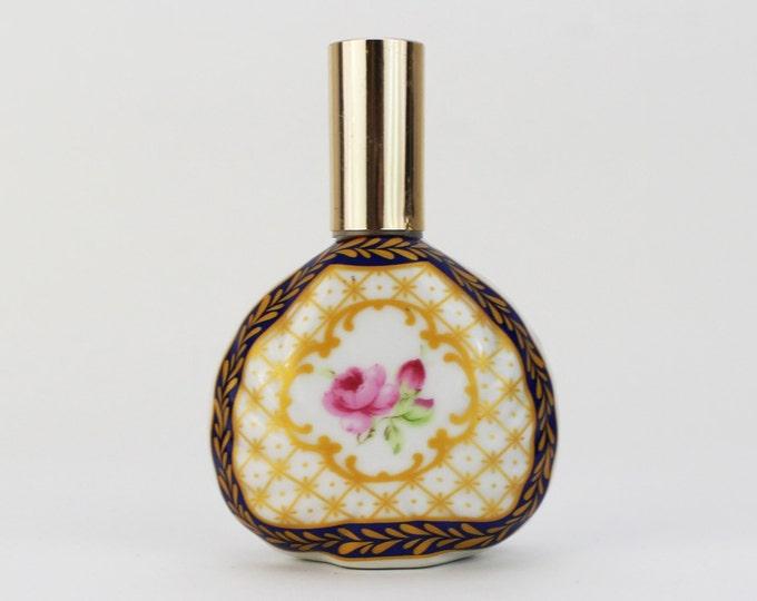 Vintage 1950s Hand Painted Perfume Bottle