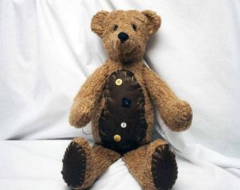 Teddy Bear Collectable Bear Traditional Bear Artist Bear Handmade Teddy Bear Stuffed Bear Brown Teddy Bears Teddybear Collector Brown Bear
