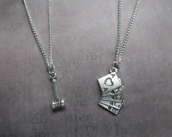 Harley quinn mallet etsy for Harley quinn and joker jewelry