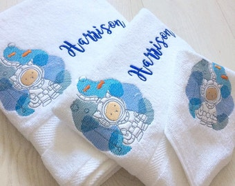 Underwater Kitty Personalised baby towel gift set