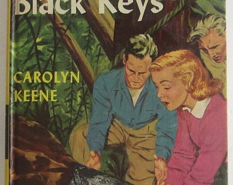 Nancy Drew #28 The Clue of the Black Keys Carolyn Keene First Picture Cover Original Text Mystery Book