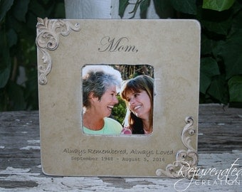 Memorial frames sympathy frames gifts for her mother loss frames remembrance frames gifts for dad gifts for mom
