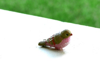 Tiny Bird for Fairy Garden Miniature Accessory