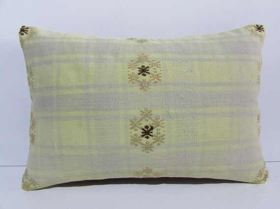 16x24 long kilim pillow pastel throw pillow bright decorative