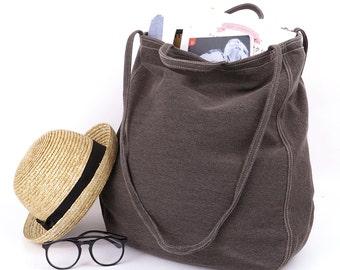 Oversize Tote Bag,smoke brown,shoulder bag,tote,bags,crossbody bag,shopping bag,gift,Bags and Purses,sackcloth