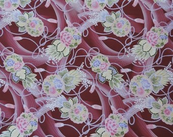 Asian design quilting fabric .