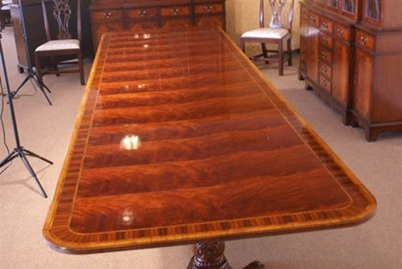 floor sample american crafted large dining table 14 ft long retail