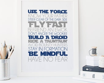 Use the Force - Rules of the Jedi - Star Wars - Have No Fear