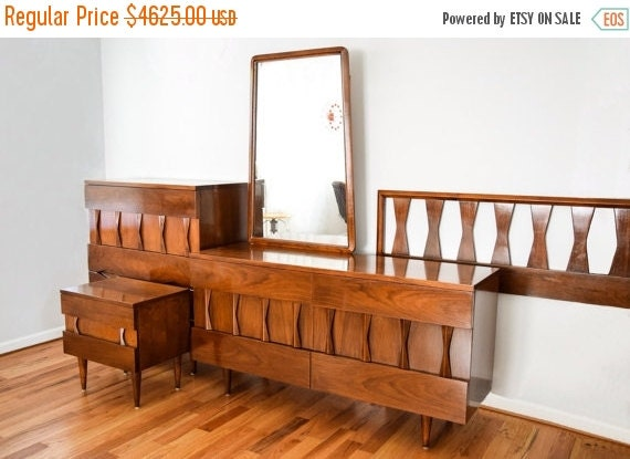 mid century bedroom set beautiful american of 19198 | il 570xn 885505636 220k
