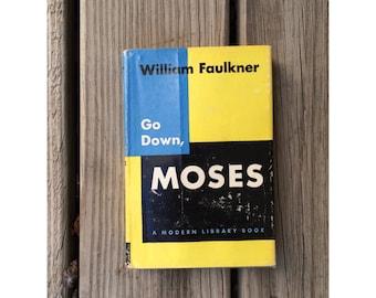 go down, moses   william faulkner hardback book