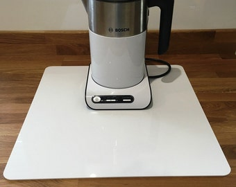 Square Worktop Saver in White Gloss Acrylic - 3 Sizes Available - 5mm thick