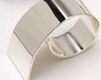 Silver Swirl Napkin Ring Set - Diameter 4 cm - Available in Sets of 4