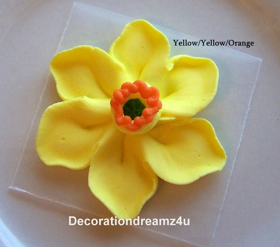 wedding cake toppers icing flowers 10 edible edible daffodil edible topper edible 26498