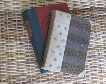 Vintage Lot Of 2 Books Of Poetry/ Poems By Whittier, 1893 Edition/ The World 's Best Loved Poems, 1927 Edition/ Antique Poetry Books/ Mantle