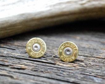 40mm Winchester Bullet Stud Earrings