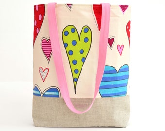 Tote Bag - Shopping Bag - Hearts