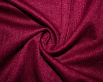 """Wine Ponte Di Roma Double Knit Polyester Spandex Lycra Stretch Medium Weight Apparel Craft Fabric 58""""-60"""" Wide By The Yard"""