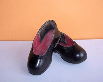 Vintage Child Galoshes. Soviet Rubber Kids Overshoes. Black rain shoes rubbers. USSR the 1960s