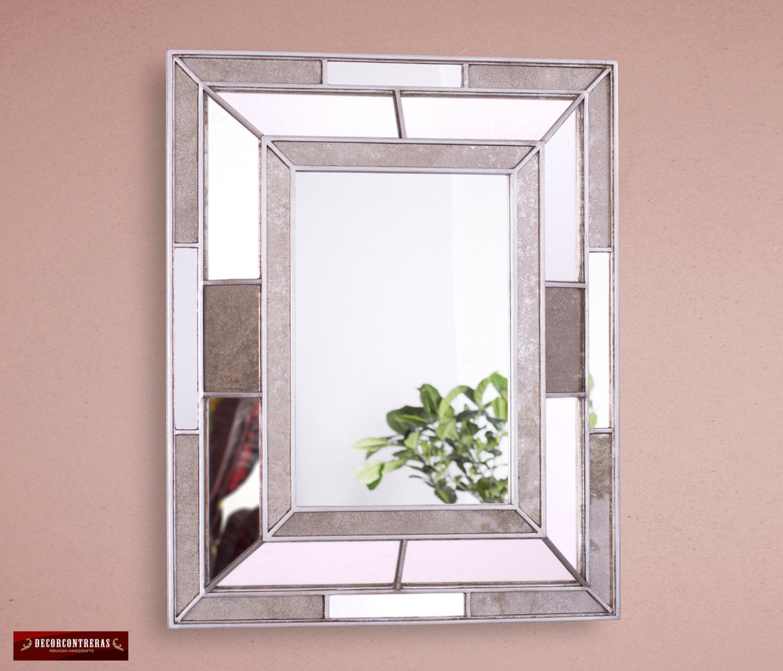 Peruvian silver large decorative mirror 39 andean by for Large silver decorative mirrors